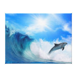 Dolphin Surf Canvas Prints