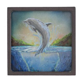 Dolphin Swim Jewelry Box