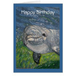 Dolphin Swimming: Cool Dude Birthday Greeting Card