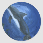 Dolphin Swimming Stickers