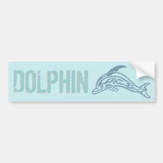 Dolphin Tattoo Car Bumper Sticker