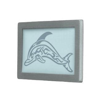 Dolphin Tattoo Rectangular Belt Buckle