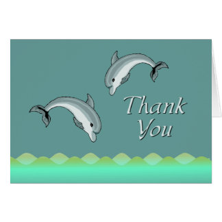 Dolphin thank you cards