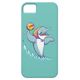 Dolphin throwing the ball while playing water polo iPhone SE/5/5s case
