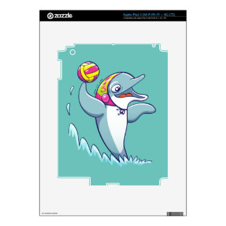 Dolphin throwing the ball while playing water polo skin for iPad 3