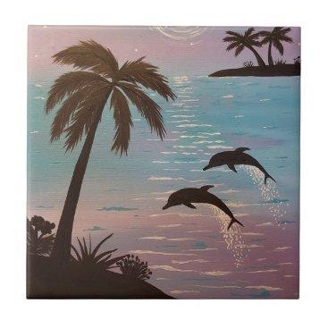 paintingbuzz Dolphin Tile
