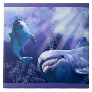 Dolphin tile artwork
