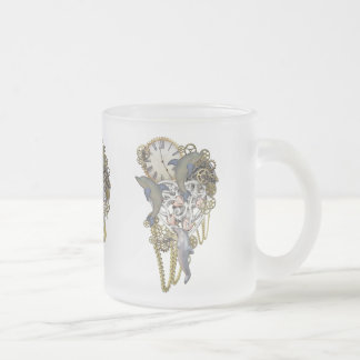Dolphin time frosted glass coffee mug