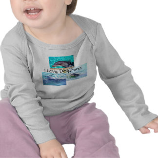 """Dolphin Toddler T-Shirt """"I love Dolphins"""""""