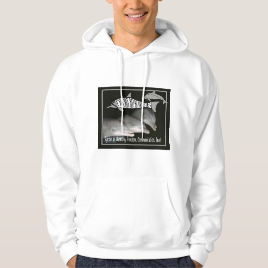 DOLPHIN TOTEM  Harmony Freedom Communication Trust Hoodie