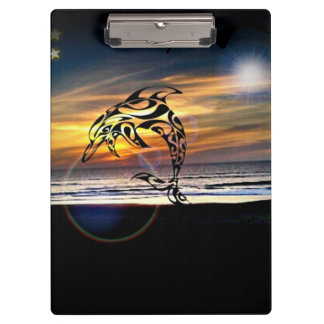 Dolphin Totem Sunset Clipboard