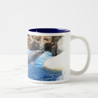 Dolphin Tricks Coffee Cup Coffee Mug