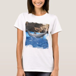 Dolphin Tricks Ladies Fitted T-Shirt