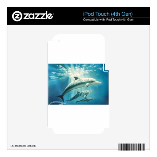 Dolphin Trio iPod Touch 4G Skin