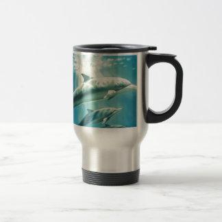 Dolphin Trio 15 Oz Stainless Steel Travel Mug