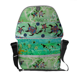Dolphin & Turtle Dreaming Message Bag Messenger Bags