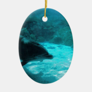 Dolphin Under Water Ceramic Ornament