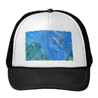 Dolphin underwater scene trucker hat