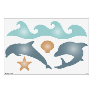 Dolphin Underwater Shapes Wall Decals