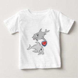 Dolphin Valentine's Day Baby T-Shirt