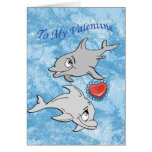 Dolphin Valentine's Day Card