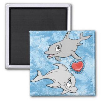 Dolphin Valentine's Day Magnet