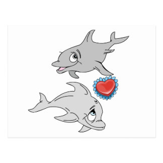 Dolphin Valentine's Day Postcards