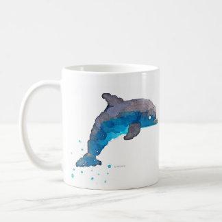 Dolphin Watercolor Coffee Mug