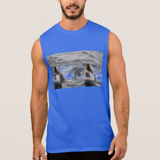 dolphin wave water tropical dive swim Aquatic Life Sleeveless Shirt