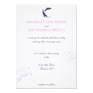 Dolphin Wedding Invitation