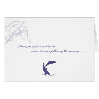 Dolphin Wedding Reply Card