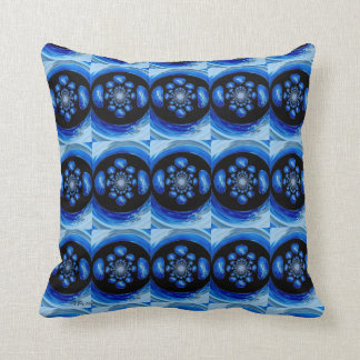 Dolphin Whirlpool abstract art Throw Pillow