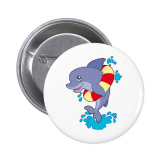 Dolphin with inflatable ring pins