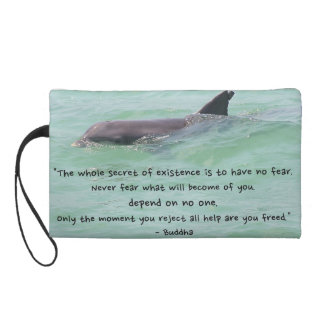 Dolphin with inspirational quote wristlet