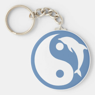 Dolphin Yin Yang Keychain