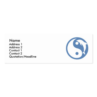 Dolphin Yin Yang Profile Card Double-Sided Mini Business Cards (Pack Of 20)