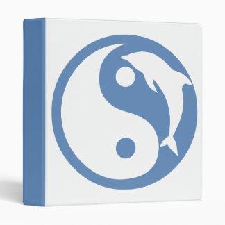 Dolphin Yin Yang Symbol Binder