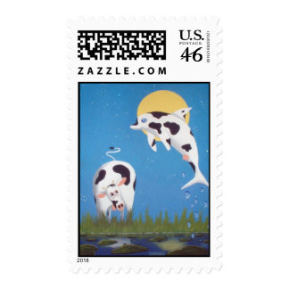dolphincow stamp