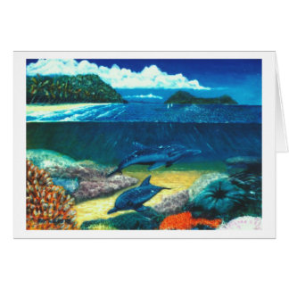 dolphines greeting card