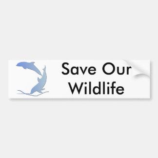 Dolphine's Save Our Wildlife Car Bumper Sticker
