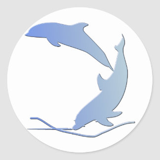 Dolphine's Save Our Wildlife Classic Round Sticker