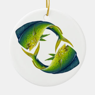 Dolphinfish Duo Ceramic Ornament