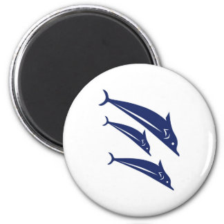 Dolphins 2 Inch Round Magnet