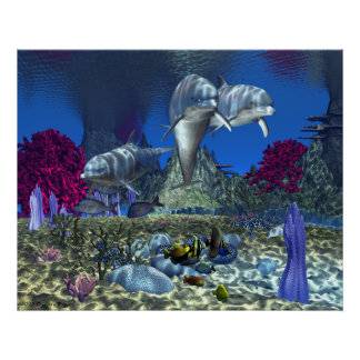 """Dolphins - 30""""x24"""" Poster"""