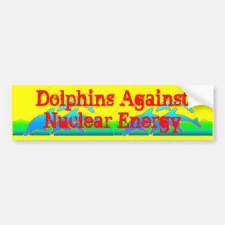 Dolphins Against Nuclear Energy Anti-Nuke Bumper Sticker