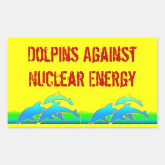 Dolphins Against Nuclear Energy Anti-Nuke Sticker