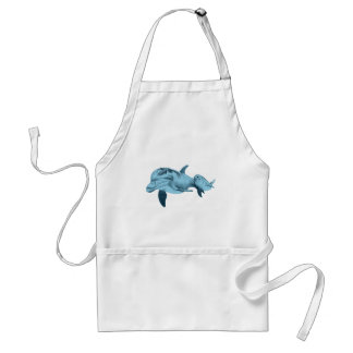 DOLPHINS ALWAYS TRUE ADULT APRON