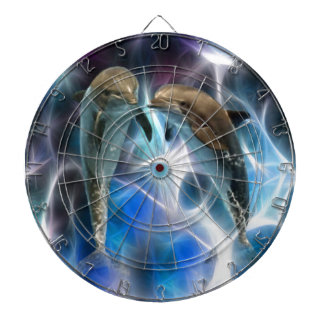 Dolphins and fractal crystals dart board