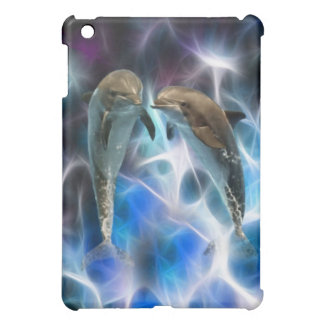 Dolphins and fractal crystals iPad mini cover