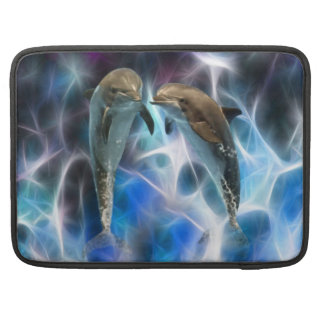 Dolphins and fractal crystals sleeves for MacBooks